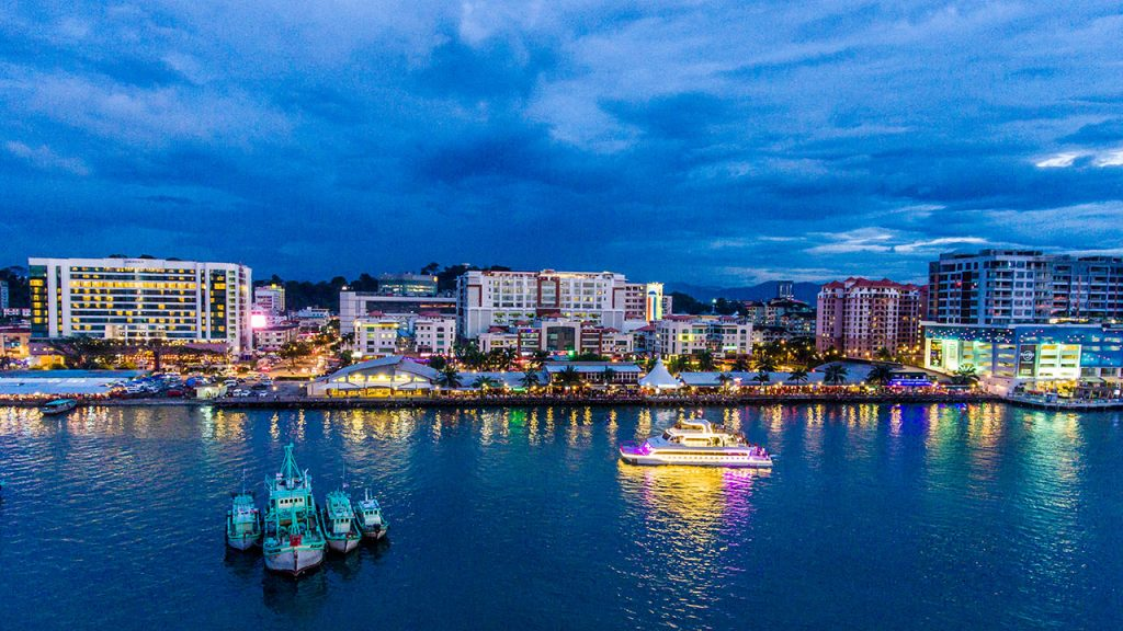 sabah kota kinabalu city north borneo cruises night 1024x576 - Wonderful Kota Kinabalu Properties As Per Your Choices